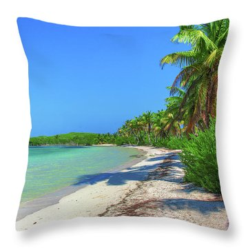 Caribbean Palm Beach Throw Pillow