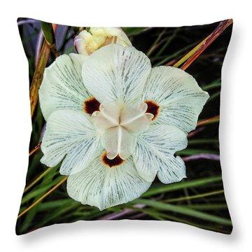Caribbean Wildflower Throw Pillow