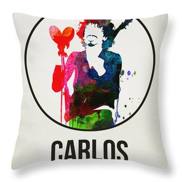 Carlos Santana II Throw Pillow