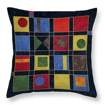 Carnival Of Colors Throw Pillow