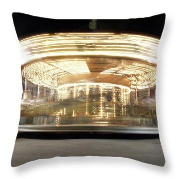 Throw Pillow featuring the photograph Carousel  by Edward Lee