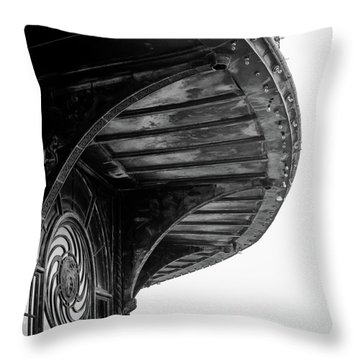 Throw Pillow featuring the photograph Carousel House Detail by Steve Stanger