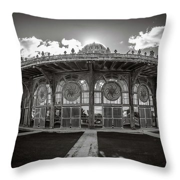Throw Pillow featuring the photograph Carousel House by Steve Stanger