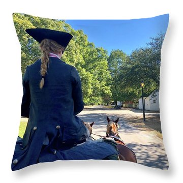 Carriage Ride Throw Pillow