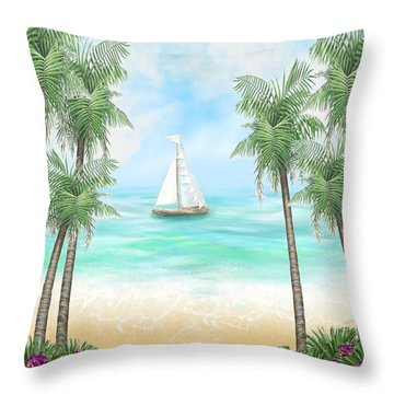 Carribean Bay Throw Pillow