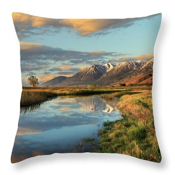 Carson Valley Sunrise Throw Pillow