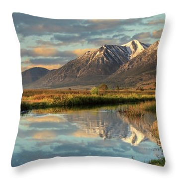 Carson Valley Sunrise Panorama Throw Pillow
