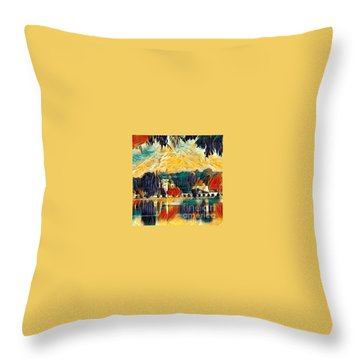 Throw Pillow featuring the digital art Carthage by A zakaria Mami