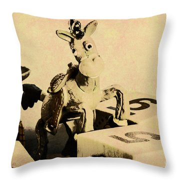 Cartoon Character Cowboys And Cowgirls Throw Pillow