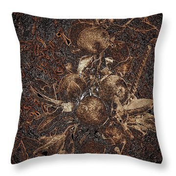 Carved Apples Throw Pillow