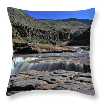 Carving The Gorge Throw Pillow