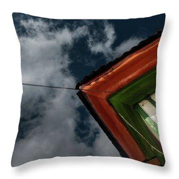 Throw Pillow featuring the photograph Casa Esquinera Cafetera by Juan Contreras