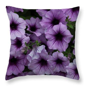 Cascade In Violet Throw Pillow