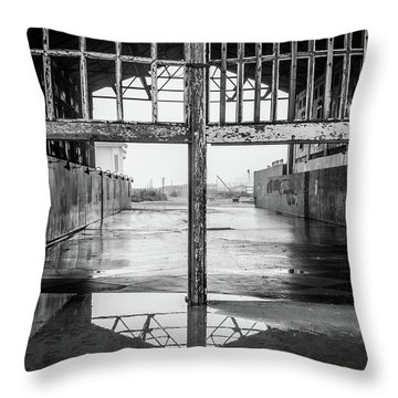 Throw Pillow featuring the photograph Casino Reflection by Steve Stanger