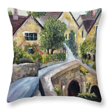 Castle Combe Throw Pillow