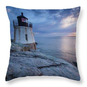 Castle Hill Light Sunset Throw Pillow