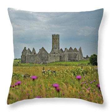 Throw Pillow featuring the photograph Castle In The Wildflowers by Mark Duehmig