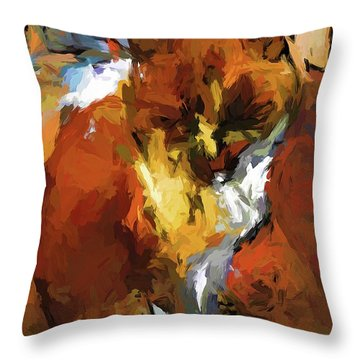 Cat In The Kitchen Throw Pillow