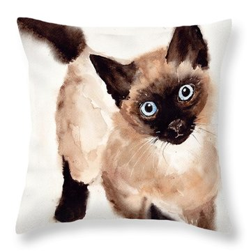 Cat Malcolm Throw Pillow