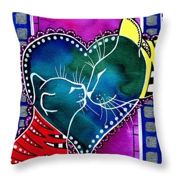 Cat Mom Love Throw Pillow