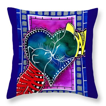 Cat Mom Love Throw Pillow