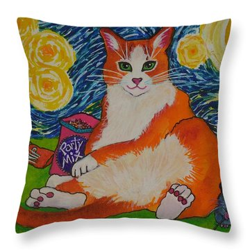Cat Nipped  Throw Pillow