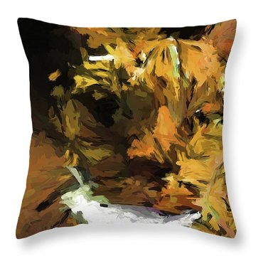 Cat Up Close Throw Pillow