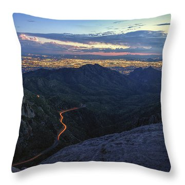 Catalina Highway And Tucson Throw Pillow