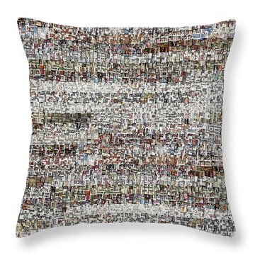 Cataloged Moments Throw Pillow
