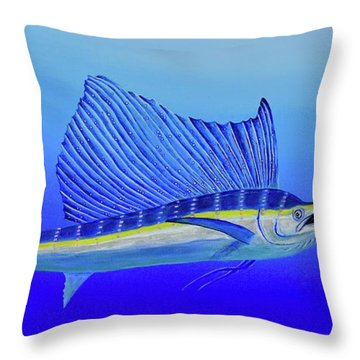 Throw Pillow featuring the painting Catch Me If You Can by Mary Scott