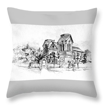 Cathedral Basilica Of St. Francis Of Assisi - Santa Fe, New Mexico Throw Pillow