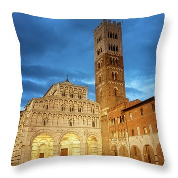 Cathedral Lucca Italy Throw Pillow