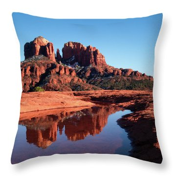 Cathedral Rock Reflection II Throw Pillow