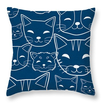 Cats- Art By Linda Woods Throw Pillow