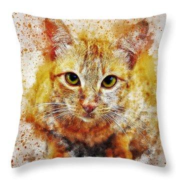 Cat's Eye Throw Pillow