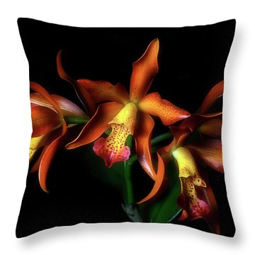 Cattleya Throw Pillow