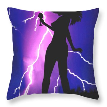 Caught In A Flash Throw Pillow