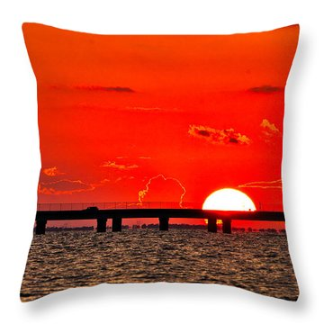 Causeway Sunset Throw Pillow