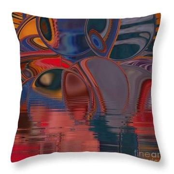 Throw Pillow featuring the digital art Cave De Sensation by A zakaria Mami