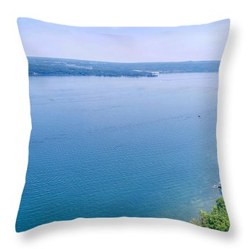 Cayuga From Above Throw Pillow