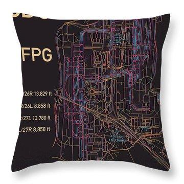 Cdg Paris Airport Throw Pillow