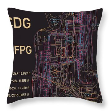 Cdg Paris Airport Throw Pillow