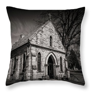 Cedar Hill Chapel Throw Pillow