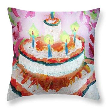 Celebration Cake Throw Pillow