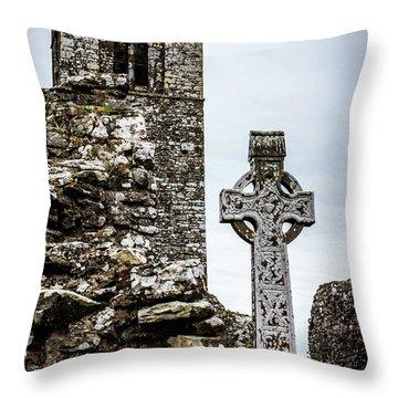 Celtic Cross At Hill Of Slane Throw Pillow