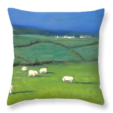 Celtic Sheep Throw Pillow