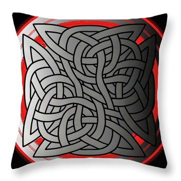 Celtic Shield Knot 4 Throw Pillow