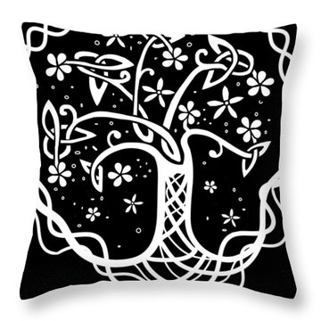 Celtic Tree Of Life 3 Throw Pillow