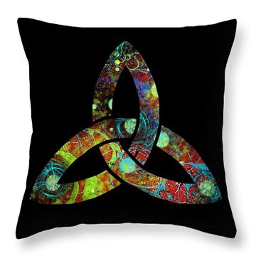 Celtic Triquetra Or Trinity Knot Symbol 1 Throw Pillow
