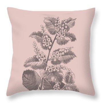Cerasus Blush Pink Flower Throw Pillow